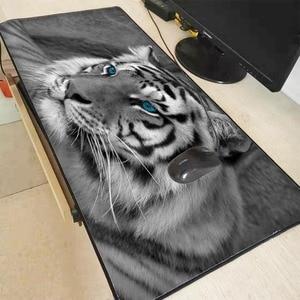 XGZ животное белый тигр большой игровой коврик для мыши замок край коврик для игровой мыши коврик для ноутбука клавиатура Коврик для стола дл...