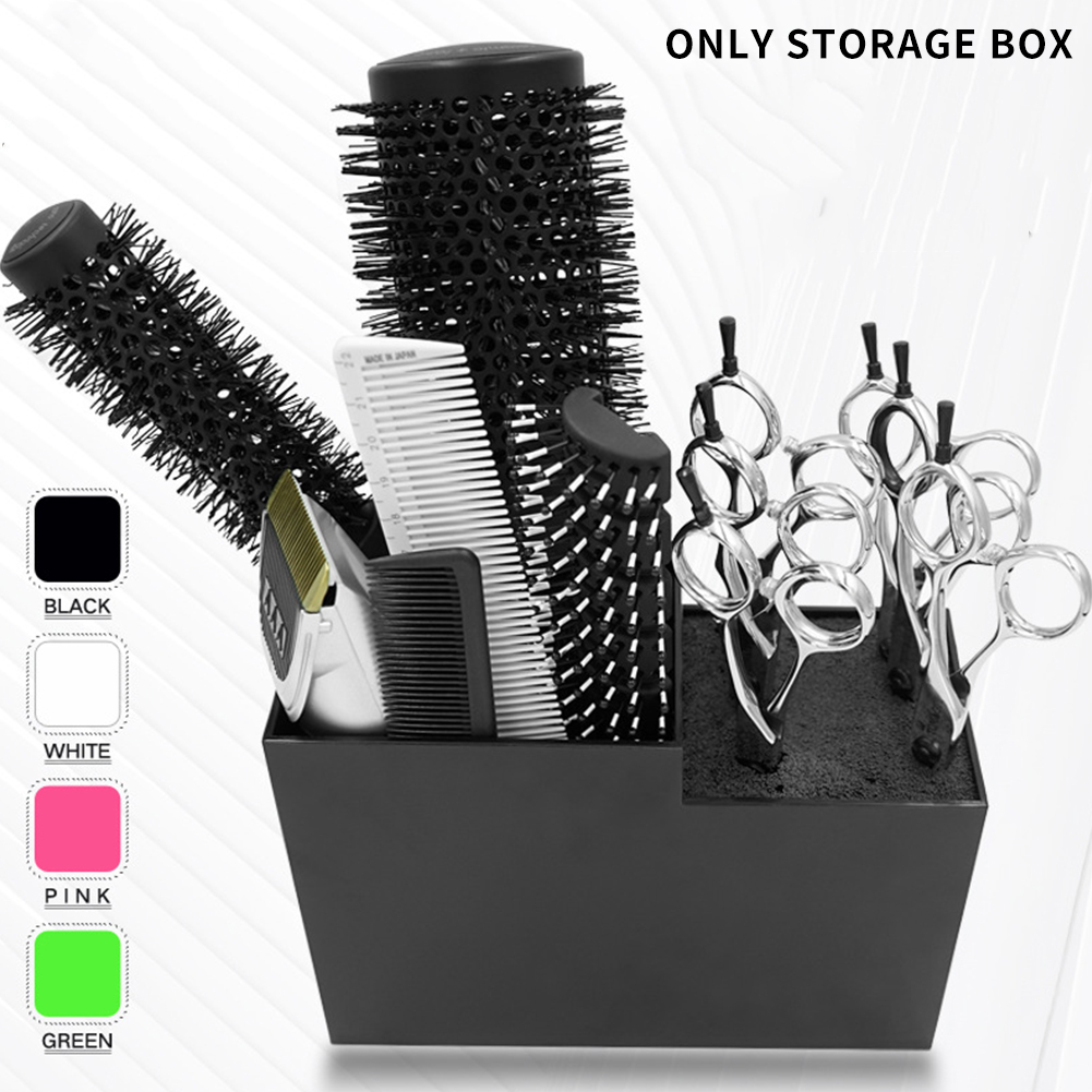 Odorless Salon Hairdressing Wear Resistant Washable Anti Slip Scissor Holder Free Insertion Detachable Comb Stand Organized