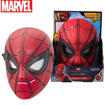 Original Disney Marvel 3d Spiderman Far From Home Masks For Avengers Iron Spider Man Cosplay Superhero Mask Lense Children's Co spider man homecoming cosplay costume 3d printed spiderman homecoming spandex suit newest spiderman halloween bodysuit