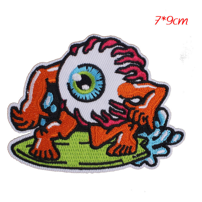 Clothes Embroidered Iron Sew On Patches transfers Appliques Badges Catch Eyeball
