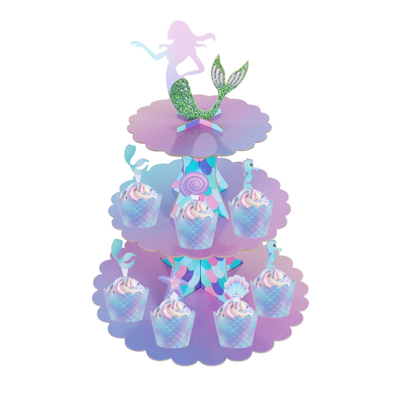 Cupcake Wrappings Party Decoration Mermaid Cupcake Wrappers Mermaid Party H