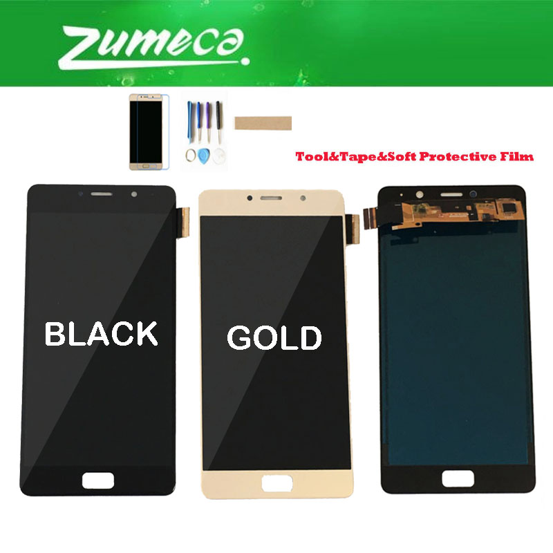 Original 5.5 Inch For Lenovo Vibe P2 P2c72 P2a42 P2 LCD Display+Touch Screen Digitizer Black Gold Color+Kits