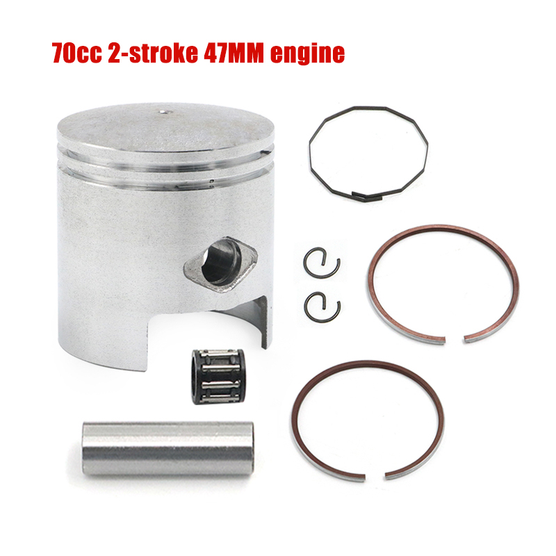 70cc Piston Ring Set 47mm w//10mm Pin for Jog Minarelli Scooter Moped