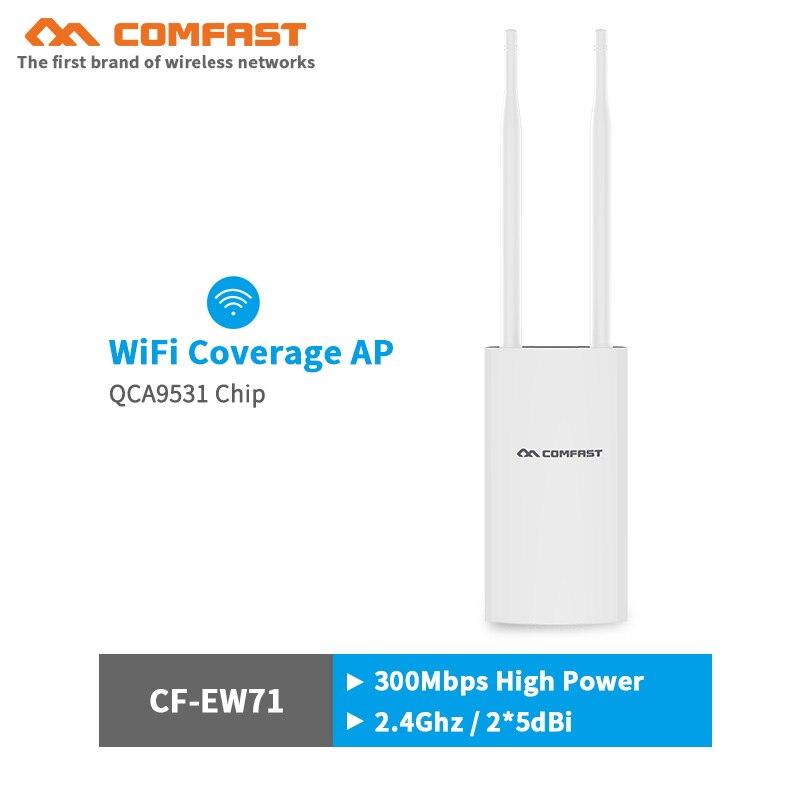Cobertura wifi de alta potencia, Estación base AP inalámbrica para exteriores, 300Mbps, punto de acceso wi-fi Ethernet, puente Wifi AP, antena del router wifi