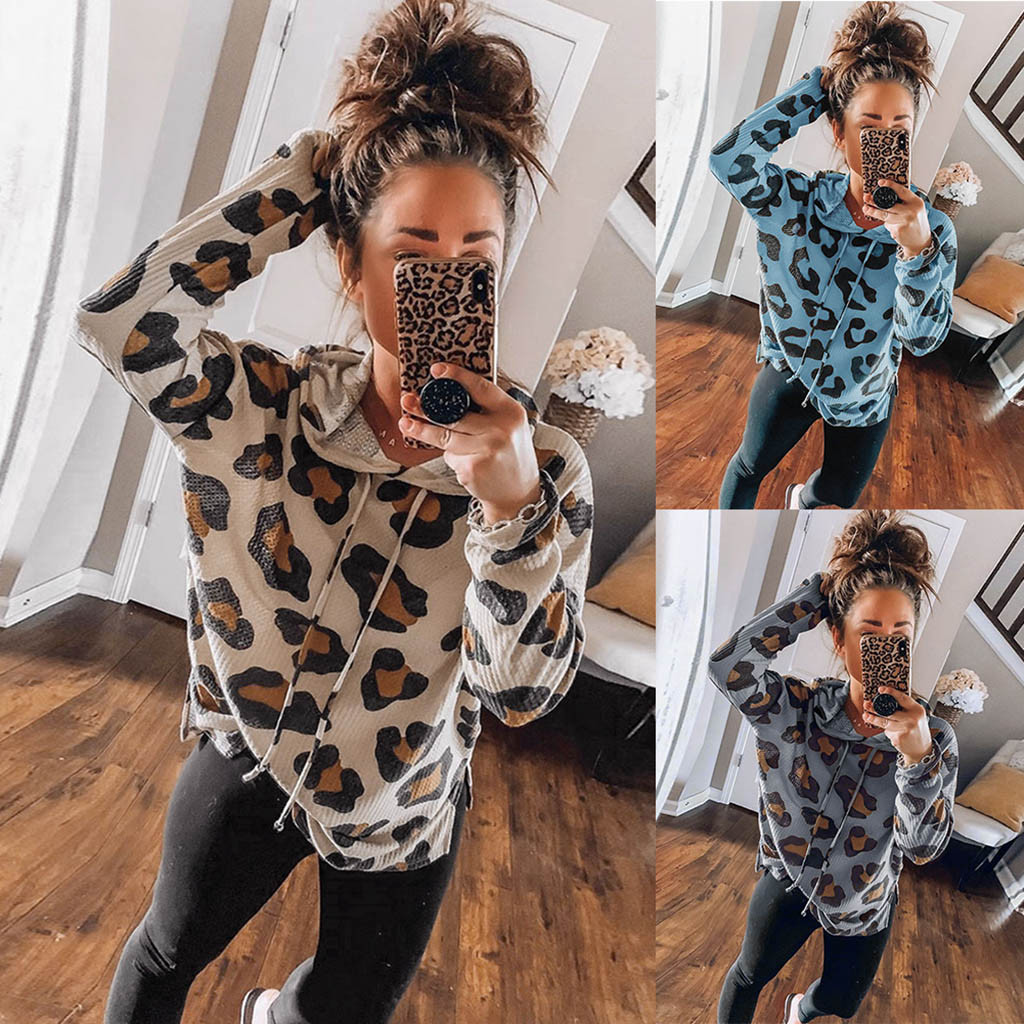 ropa mujer bluza damska hoodies womens Autumn Winter Casual Long Sleeve Leopard oversized hoodie   sweatshirt women moletom