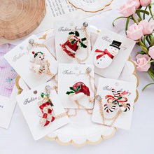 Christmas Tree Elk Shoe Brooches Gifts for The New Year Full Colorfull Christmas Tree Decorations Xmas Brooch Pins(China)