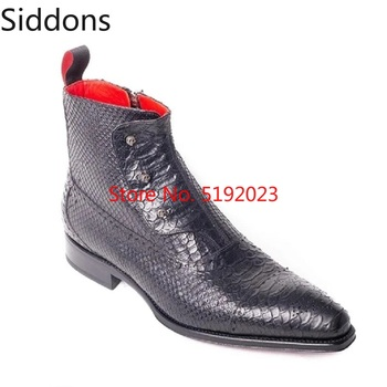 Winter Fashion Men Pointed Toe Zip Ankle Chelsea Boots PU Leather Mens Male Casual Zapatos De Hombre D182