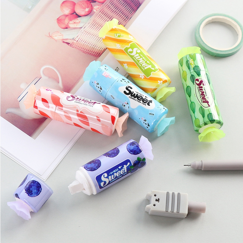 Novelty Cute Candy Correction Tape Sweet Correction Tapes Students School Corrector Kawaii Stationery Kids Gifts Office Supplies