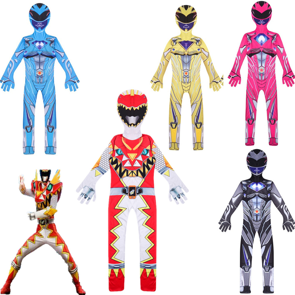 Power Mecha Five Beast Super Action Figures Rangers Battle Neuro Mystic Force Kids Cosplay Jumpsuits Halloween Costumes For Kids