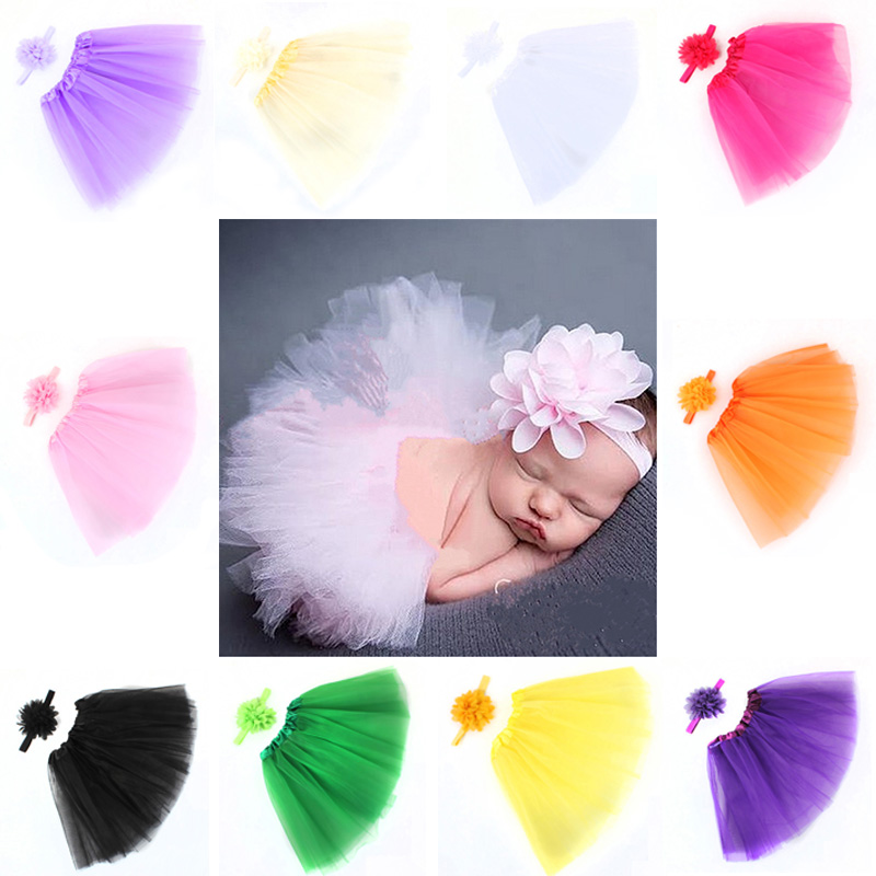 Baby Newborn Photography Clothing Props Baby Tutu Skirt Hat Headband Set Photos Props New Born Photography Props Accessoriess