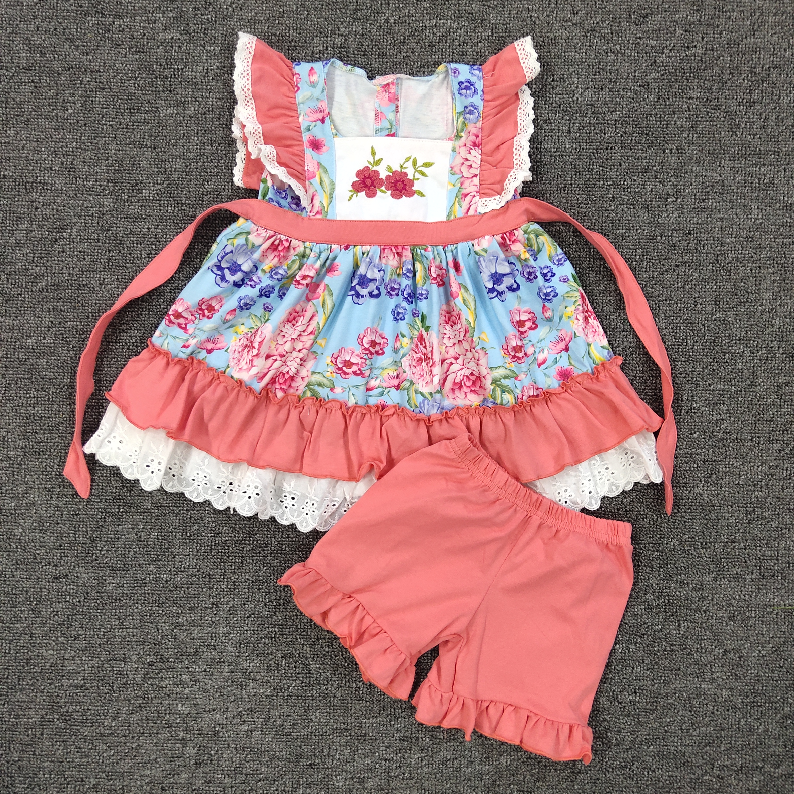 Girl Set Toddler Girls Clothing Summer Boutique Shorts Baby Remake Outfits Set