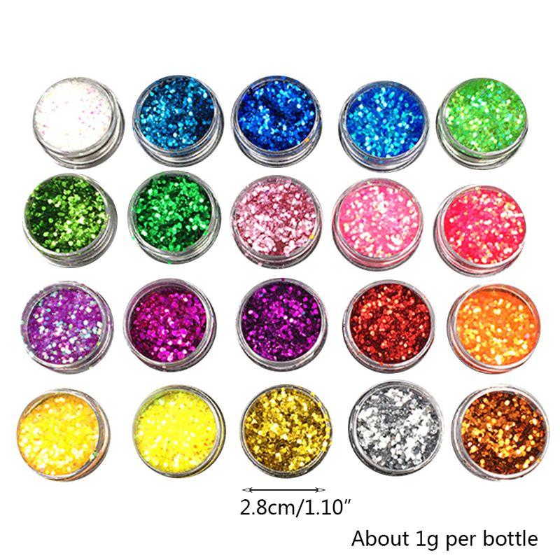 Купить с кэшбэком DIY Crystal Epoxy Jewelry Glitter Mixed Coarse Powder Nail Art Making Filler