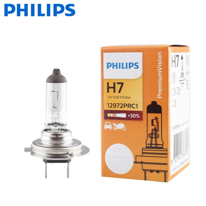 Philips H7 12v 55w Px26d Premium Visi Standar Phare De Voiture Ampul Originales Lampes Halogènes Ece Approuver 12972pr C1 Bola Lampu Mobil Halogen Aliexpress