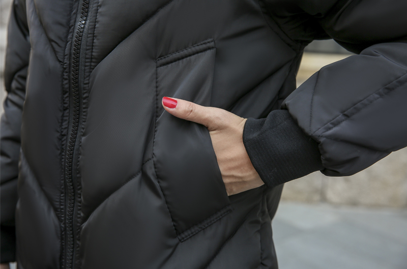 2019 High Quality Winter Jacket Women Hooded Fur Collar Warm Thicken F_B4_15