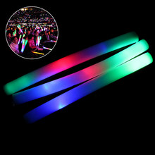 Light Up Multi Color LED Foam Stick Wands Rally Rave Cheer Batons Party Flashing Glow Stick Light Sticks(China)