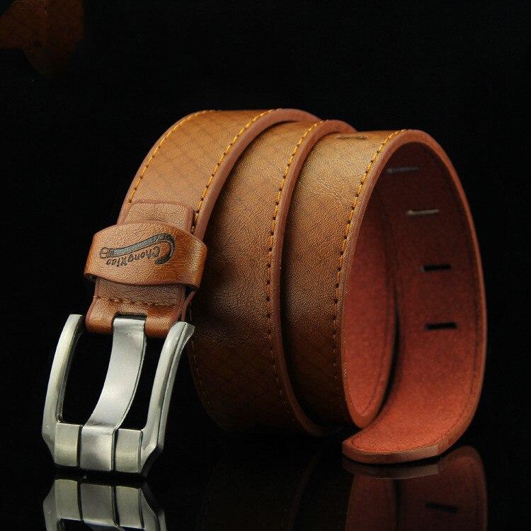 Luxury Men's Leather Belt Men's Retro Belt Black Jeans Leather Bandage Strap Brown Belt