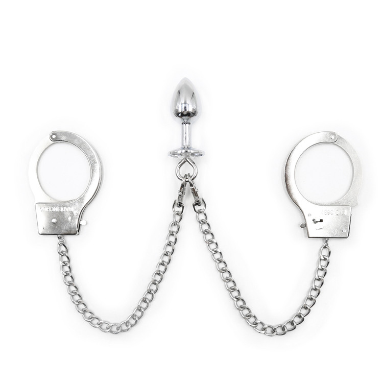 Sexy Metal Handcuffs Tethered Bondage Toy Binding Exotic Accessories Couples Flirting Products Adult Sex Toy Accessories