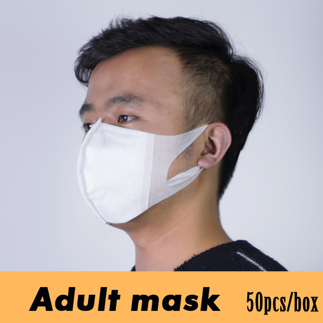 Disposable Children/Adult Mouth Mask Anti Dust Pollution Face Mask Non Woven 3 Layers Anti Bacteria Flu Fabric Cloth Health care 1