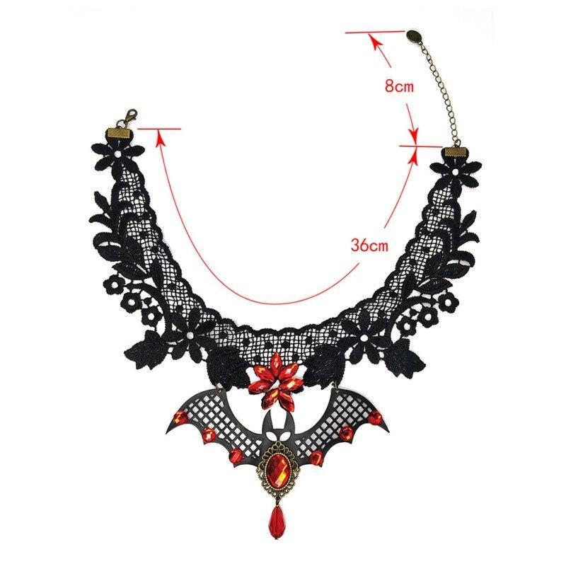Steampunk Gothic Bat Collar Lace Choker Pendant Necklace Charm Jewelry Gift MA