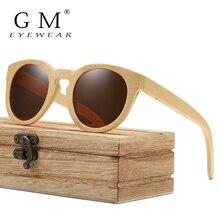 GM женские солнцезащитные очки, женские Поляризованные Ретро Винтажные Солнцезащитные очки, мужские деревянные бамбуковые солнцезащитные очки, брендовые дизайнерские квадратные очки S824