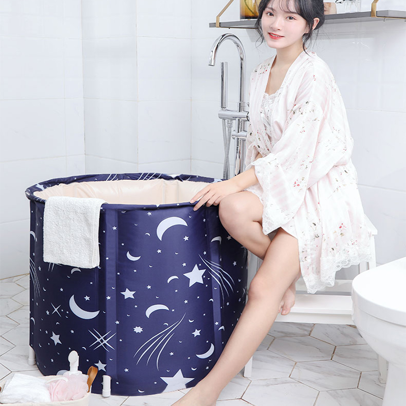 TWDW bain baril adulte pliant douche bain baril complet ménage baignoire grand épais bain à la vapeur artefact