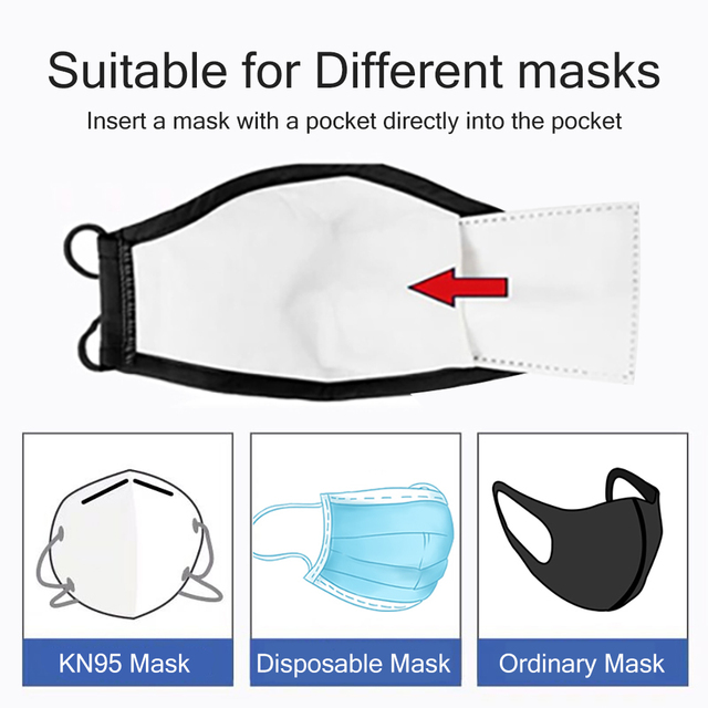 PM2.5 Filter Paper Reusable Filter Paper Anti Dust Haze Mouth Mask Anti Protective Face Masks Bacteria Proof Flu Filte For Mask 3