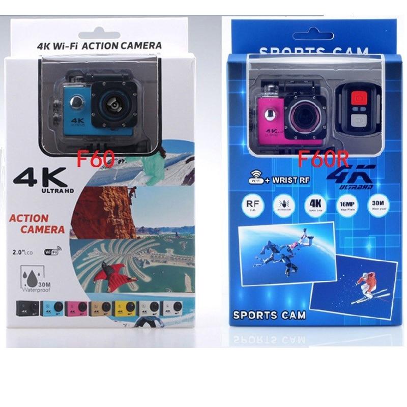 KaRue F60/F60R Спортивная Экшн-камера Deportiva Ultra HD 4K WiFi 1080P 170D Водонепроницаемая мини-видеокамера для велосипедного шлема
