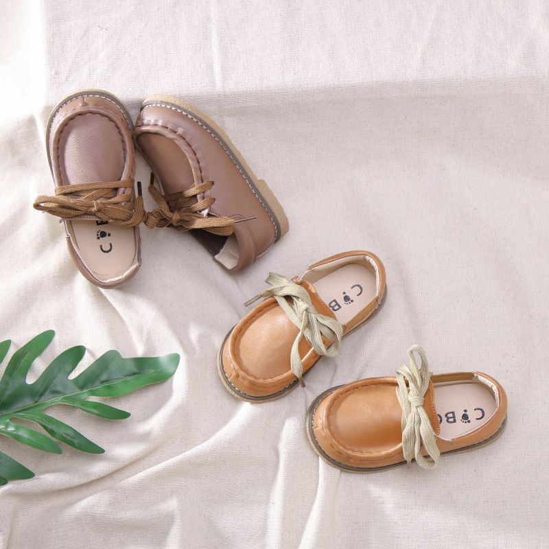 Spring new baby girls boat shoes kids leather shoes children brown brand shoes boys slip on flats toddler soft loafers moccasin