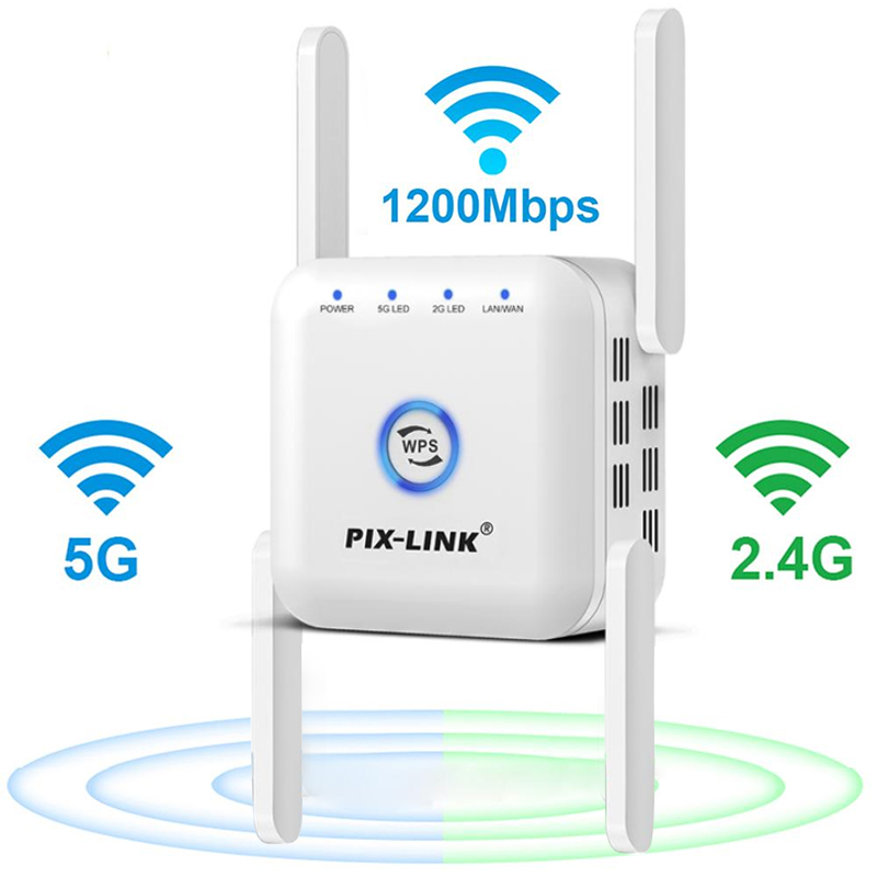 5G Wifi Repeater 5ghz Repeater Wifi 1200mbps Router Wifi Extender Long Range 2 4G Wi Fi Booster 300M Wi-Fi Signal Amplifier