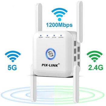 Repetidor Wifi 5G, enrutador de 1200M, extensor de Wifi de largo alcance,...