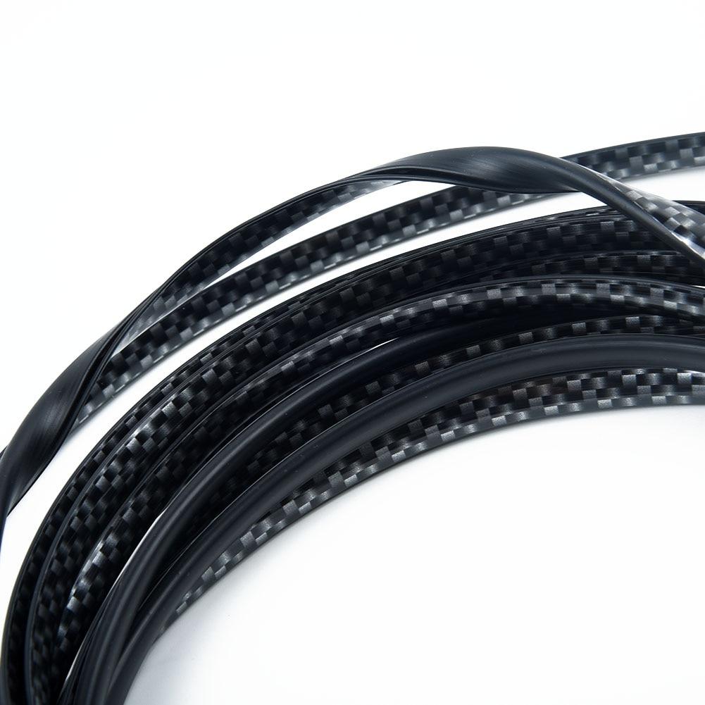 5M  U Shape Car Door Edge Guard Protector Rubber StripTrim Carbon Fiber Seal