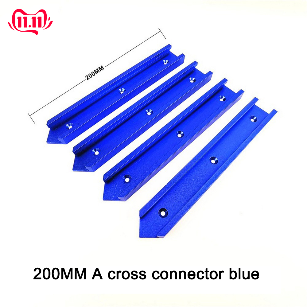 100mm 200mm T-tracks Miter Track T-slot Jig Fixture Slot Circular Saw Flip Table Cross Connector 30 Type Chute Woodworking DIY