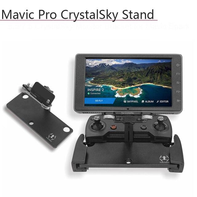 Suporte adaptador de montagem para dji mavic pro faísca 5.5/7.85in crystalsky mavic mini monitor controle remoto titular acessórios