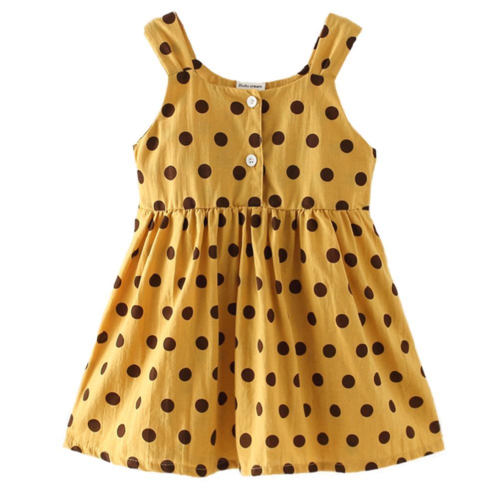Dress Children Girls Clothing Polka-Dot Kids Summer Girl Fashion