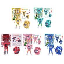 Часы трансформеры детские электронные Мультяшные фигурки роботов