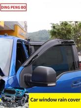 Side Window Deflector For Ford Raptor F150 2018 2019 2020  Acrylic Sun Rain Deflector Weather Shield Car Accessories
