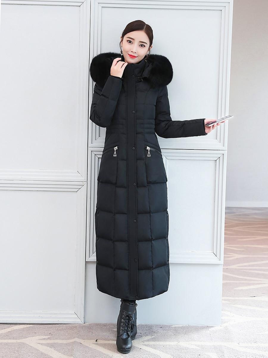Winter Coat Female Thick Warm Brand 90% Duck Down Jacket Women Long Down Parka 2019 Korean Fox Fur Hooded Clothes 19