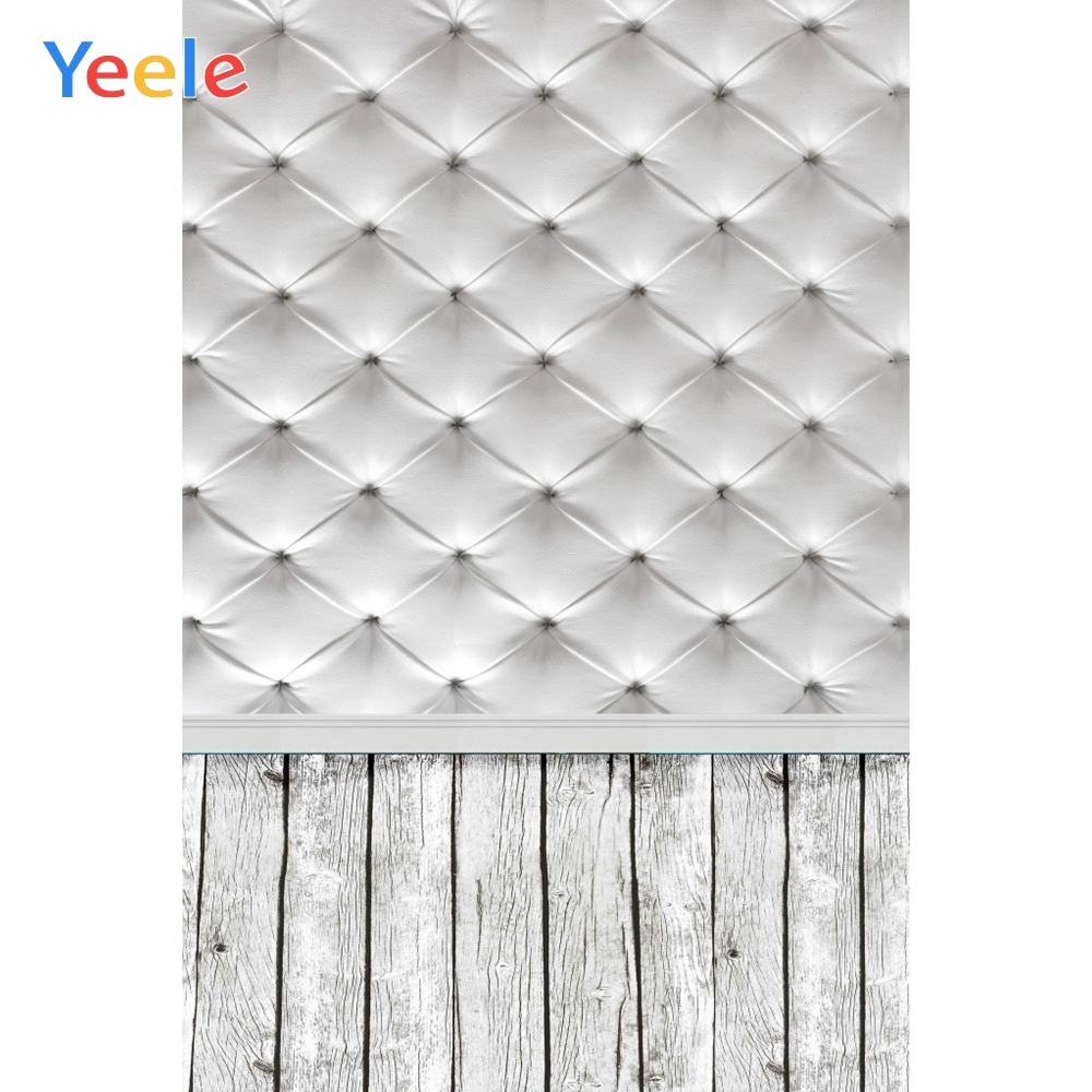 Leather Bed Headboard Wood Floor Scene Baby Pet Food Photography Backgrounds Customized Photographic Backdrops For Photo Studio