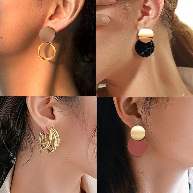 Women's Earrings  Acrylic Drop Earrings  Statement Geometric 6