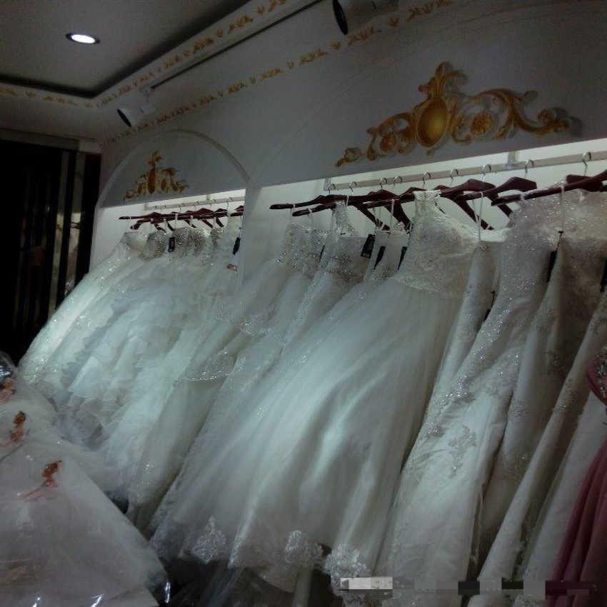 טהור לבן סאטן Vintage בת ים חתונת שמלת תחרה רקמה אפריקאית מציעים את כתף תחרה עד בחזרה כלה שמלה