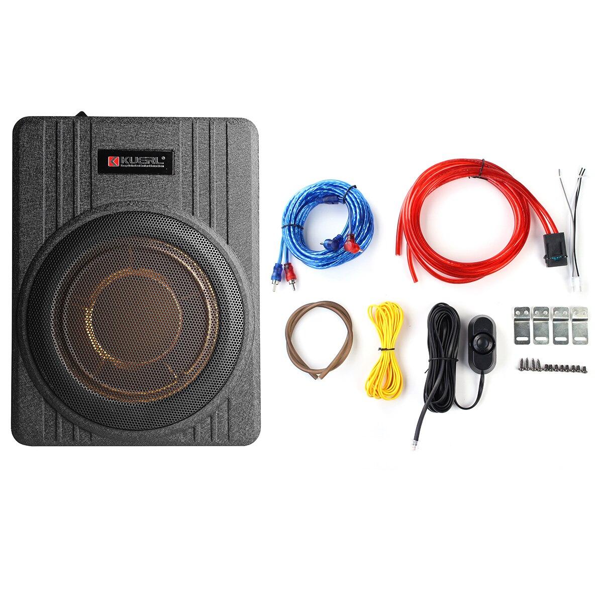 600W 10 pouces 12V voiture sous siège mince amplificateur de voiture actif Subwoofer haut-parleur mince amplificateur avec enlever le haut-parleur de voiture de contrôle