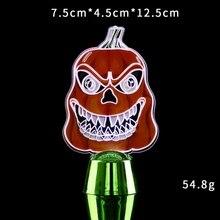 Иллюзия лампы череп Тыква светодиодный акриловая настольная лампа ночник для Хэллоуина декоративные Хэллоуин светящиеся реквизиты