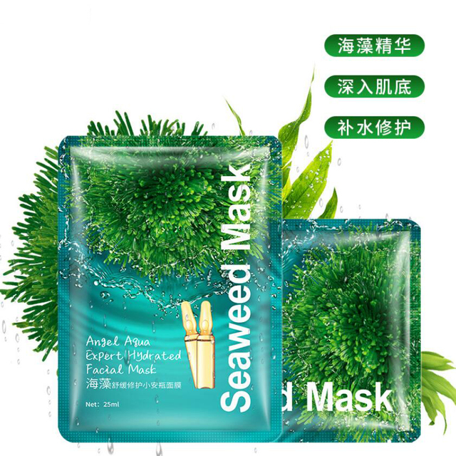 Korean Seaweed Facial Mask Angel Aqua Expert Hydrated Face Mask Moisturizing Nourishing Hydrating Women Face Skin Care 2