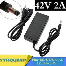 36V 2A ładowarka wyjście 42V 2A ładowarka wejście 100-240 VAC Li-ion li-poly ładowarka do 10 serii 36V rower elektryczny tanie tanio YYHQQBAD CN (pochodzenie) Electric Standard Battery
