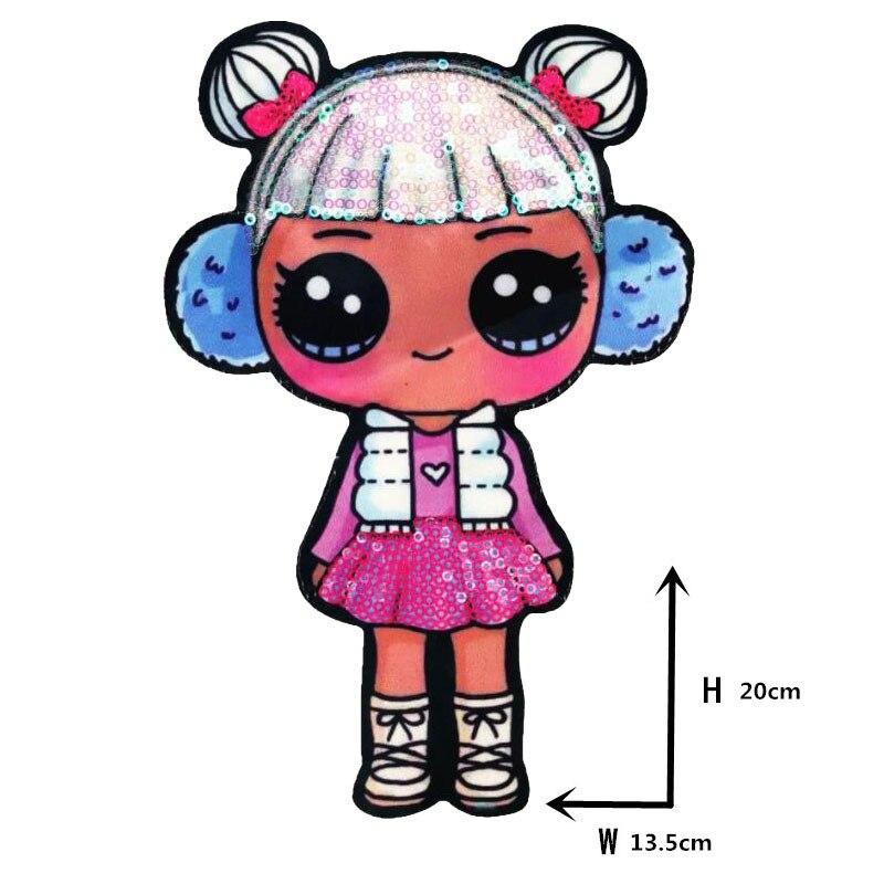 Мультяшные нашивки женские модные куклы лол для девочек Милая Модная Кукла-мальчик вышивка на одежду ручная работа украшение одежды Блестки Ткань - Цвет: WW-22