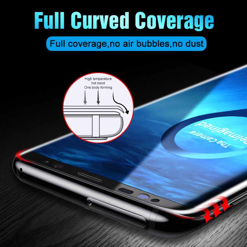 100D полностью изогнутое закаленное стекло для samsung Galaxy S8 S9 Plus Note 8 9 Защита экрана для samsung S7 edge S8 защитная пленка