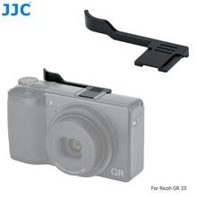 JJC TA GR3 الإبهام متابعة قبضة اليد قبضة لريكو GR III كاميرا سبائك الألومنيوم Hotshoe غطاء غطاء الحذاء الساخن