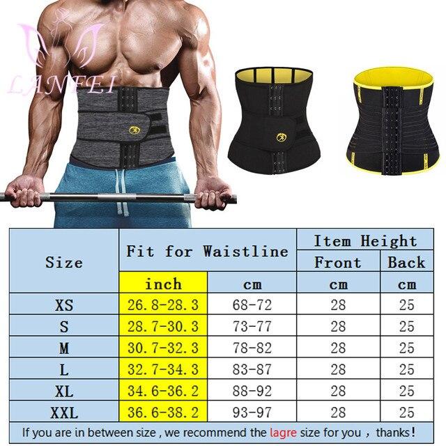 LANFEI Adjustable Double Wasit Trainer Belt Men Slimming Body Shaper Sweat Corset Weight Loss Hot Neoprene Sauna Sport Shapewear 5