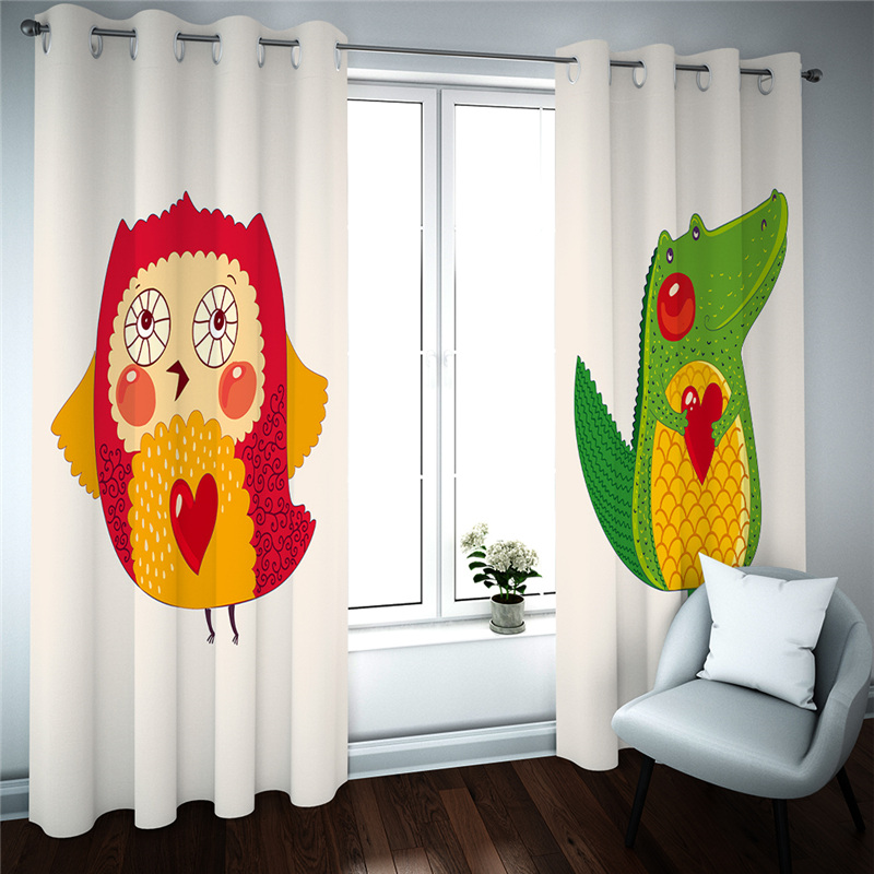 Cartoon Curtains For Kids Room Kitchen Bedroom Cortinas 3D Living Room Curtains Custom Made Blinds Drapes
