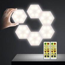 DIY LED sensörü gece lambası akülü uzaktan kumanda dim kabine LED işıkları dolapları ev duvar gardırobu banyo